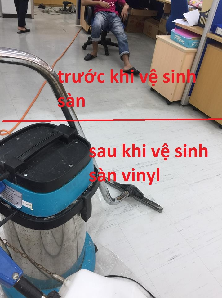 Vệ sinh Phủ Bóng Sàn Vinyl